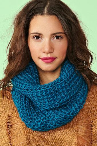 Снуд шарф как вязать спицами
