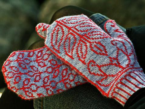 Рисунки из меланжевой пряжи для вязания спицами