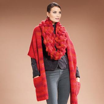 Вязанный шарф из пряжи