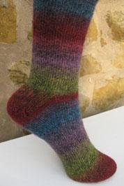 Вязаные носки из принтованной пряжи